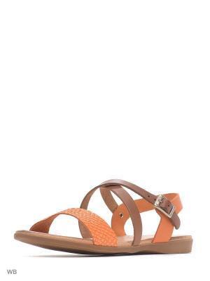 Сандалии Valencia. Цвет: оранжевый, коричневый