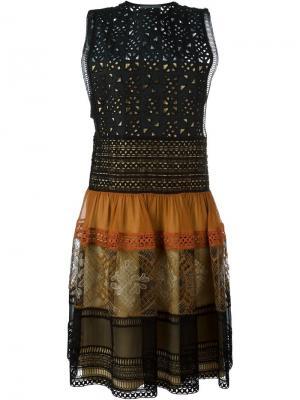 Платье с панельным дизайном Alberta Ferretti. Цвет: чёрный