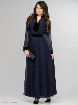 Платье Enna Levoni. Цвет: темно-синий