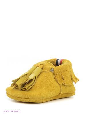 Пинетки U.S. Polo Assn.. Цвет: желтый