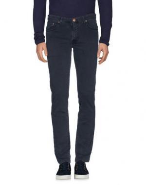 Джинсовые брюки B SETTECENTO. Цвет: темно-синий