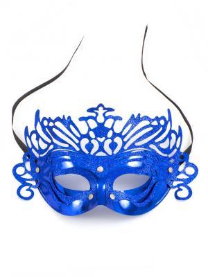 Маскарадная маска  Загадка ФЕСТА. Цвет: синий