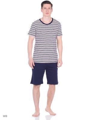 Пижама: футболка и шорты Tommy Hilfiger. Цвет: красный, синий