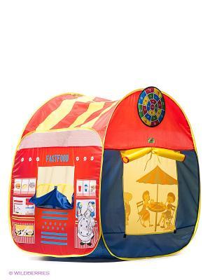 Палатка игровая Фастфуд Наша Игрушка. Цвет: красный, желтый, синий