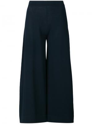Укороченные брюки с высокой талией D.Exterior. Цвет: синий