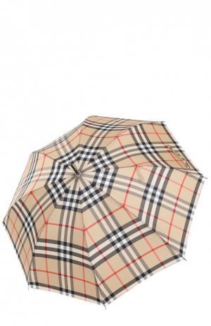 Зонт-трость в клетку Burberry. Цвет: бежевый