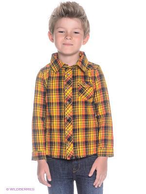 Рубашка Noppies. Цвет: желтый, синий, зеленый, оранжевый