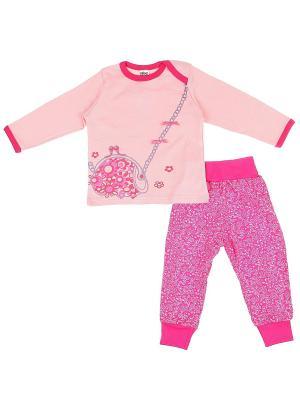 Комплект одежды Yallo Kids. Цвет: фуксия
