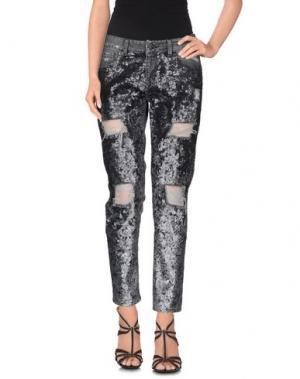 Джинсовые брюки UP ★ JEANS. Цвет: черный
