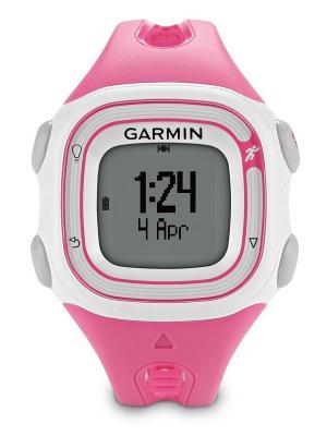 Часы для бега Forerunner 10 Pink/White GARMIN. Цвет: белый