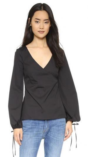 Блуза Lena Caroline Constas. Цвет: однотонный черный