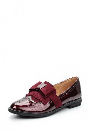 Лоферы WS Shoes. Цвет: бордовый
