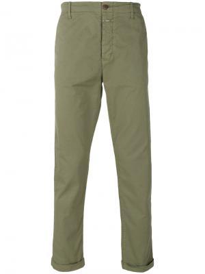 Эластичные брюки-чинос Closed. Цвет: серый