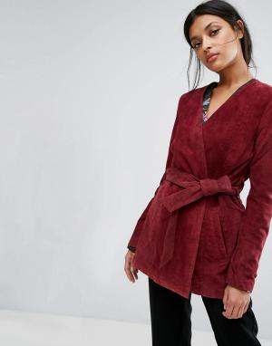 Gestuz Замшевая куртка Odelia. Цвет: красный