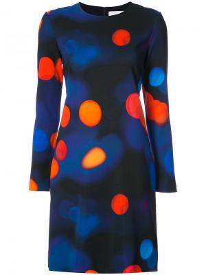 Платье City Lights Victoria Beckham. Цвет: синий