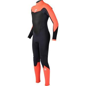 Гидрокостюм (Комбинезон)  Abso. Comp 403 Bz Ls Orange Billabong. Цвет: серый,оранжевый