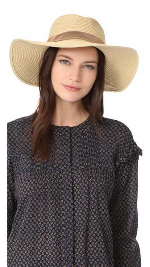 Складная соломенная шляпа с отстрочкой Madewell. Цвет: коричневый