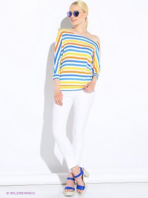 Кофточка Colambetta. Цвет: белый, синий, оранжевый