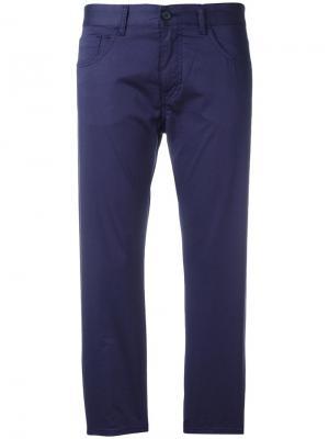 Укороченные брюки кроя слим Mm6 Maison Margiela. Цвет: синий