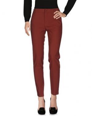 Повседневные брюки LOVLET. Цвет: кирпично-красный