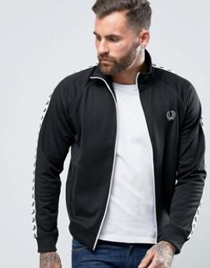Fred Perry Черная спортивная куртка Sports Authentic. Цвет: черный