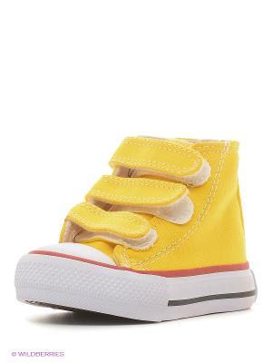 Кеды 4U. Цвет: желтый