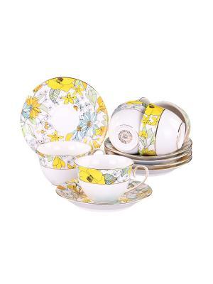 Набор чайный 12 предметов 220 мл. PATRICIA. Цвет: белый