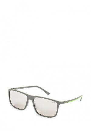 Очки солнцезащитные Polo Ralph Lauren. Цвет: серый