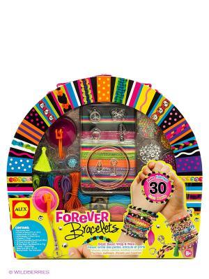 Большой  набор Шикарные браслеты в кейсе Alex. Цвет: желтый, синий, фиолетовый