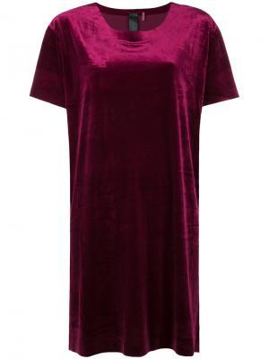 Свободное платье-футболка Norma Kamali. Цвет: красный