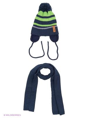 Шапка и шарф Agbo. Цвет: зеленый