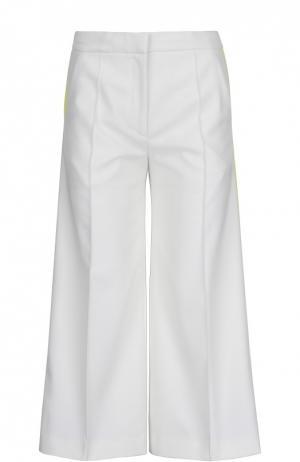 Широкие брюки с лампасами и врезными карманами Racil. Цвет: желтый