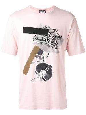 Футболка с принтом Paul & Joe. Цвет: розовый и фиолетовый