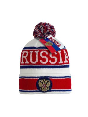 Шапка Россия Atributika & Club. Цвет: белый, красный