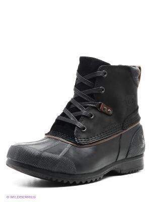 Ботинки SOREL. Цвет: черный