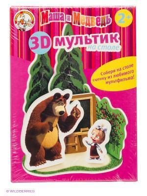 Школа. 3-Dмультик на столе. Маша и медведь. Цвет: розовый
