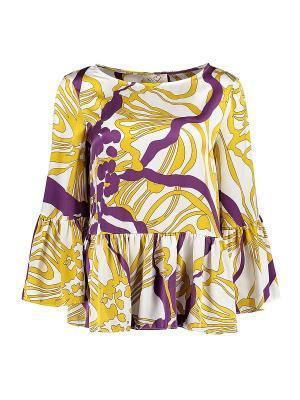 Блуза KI6 Who are you. Цвет: желтый