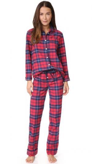 Пижама Jamie Three J NYC. Цвет: красный/темно-синий/белый