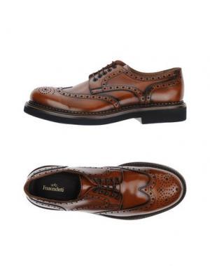 Обувь на шнурках FRANCESCHETTI. Цвет: желто-коричневый