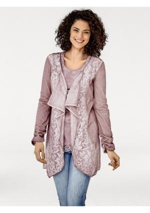 Кардиган Linea Tesini. Цвет: дымчато-розовый