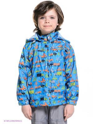 Куртка M&DCollection. Цвет: голубой, красный