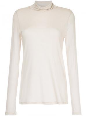Блузка с длинными рукавами Cityshop. Цвет: телесный