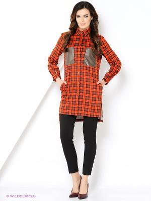 Рубашка La Via Estelar. Цвет: оранжевый