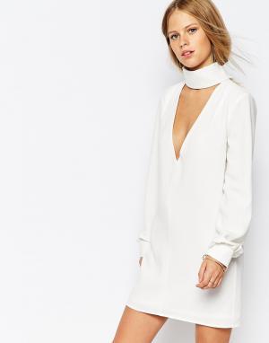 The Laden Showroom Платье-туника с глубоким вырезом X Re:Dream. Цвет: кремовый
