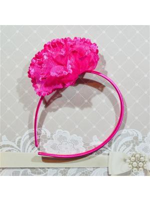 Ободок цветок Bizon. Цвет: малиновый