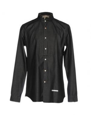 Джинсовая рубашка DNL. Цвет: черный
