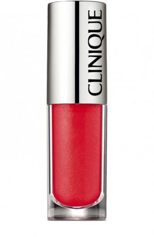 Блеск для губ Pop Splash lip gloss + hydration, оттенок 12 Rosewater Clinique. Цвет: бесцветный