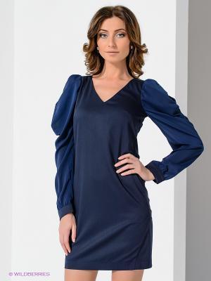 Платье Satin. Цвет: темно-синий