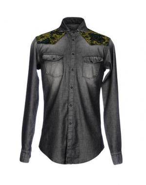 Джинсовая рубашка BRIAN DALES. Цвет: серый