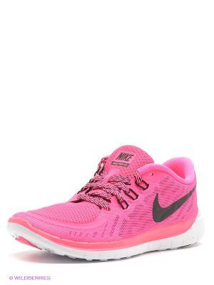 Кроссовки NIKE FREE 5.0 (GS). Цвет: розовый